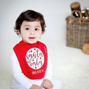 Personalised Santa Baby Bib - gifts for babies & children