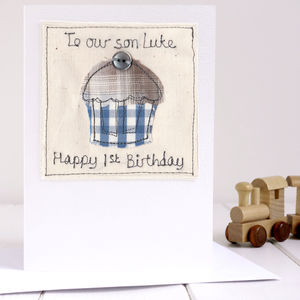 Personalised Cupcake Birthday Card - birthday cards