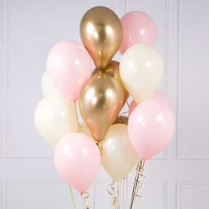 Pack Of 14 Baby Pink Party Balloons - decoration