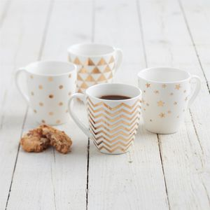 Four Gold Mugs - tableware