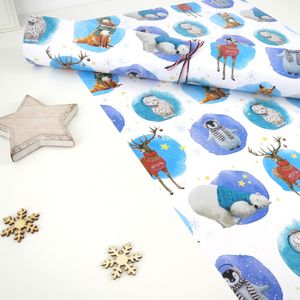 Winter Animals Wrapping Paper Sheets - cards & wrap