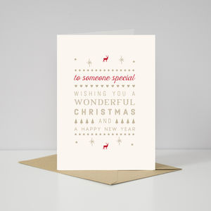 Contemporary 'To Someone Special' Christmas Card - cards
