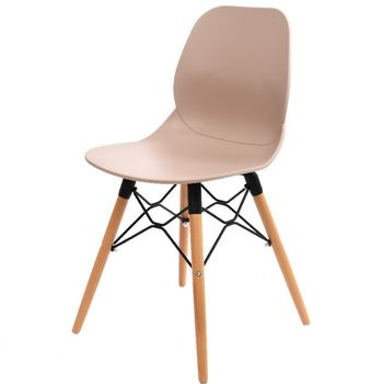Pale Pink Scandinavian Dining Or Office Chair
