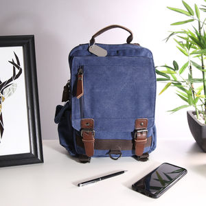 Washed Canvas Commuter Backpack