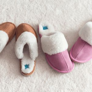 Womens Sheepskin Signature Slippers - women's fashion