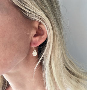 Porcelain Raindrop Hoop Earrings - bridesmaid jewellery