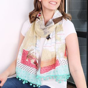 Bon Voyage World Scarf - for her