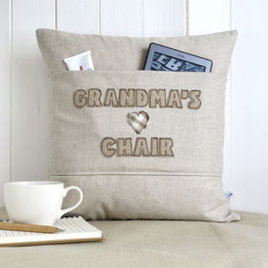 Personalised Pocket Cushion With Hearts - living room