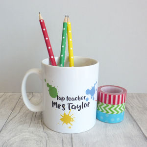Top Teacher Personalised Mug