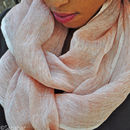 Understated Luxury, Hand Woven Pure Linen Scarf