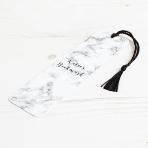 Personalised Marble Metal Bookmark