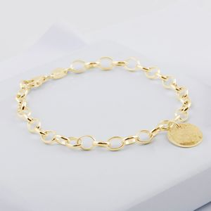 9ct Yellow Gold Memorial Disc Bracelet