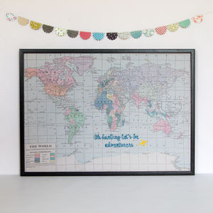 'Oh Darling Let's Be Adventurers' Map Notice Board