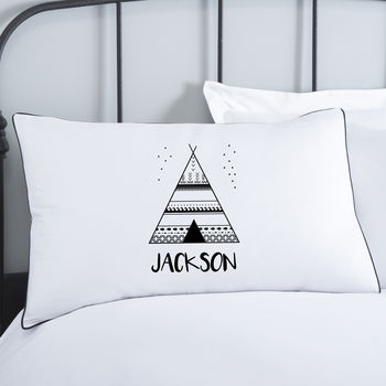 Personalised Teepee Pillowcase