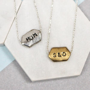 Personalised Hand Stamped Word Necklace