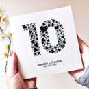 Personalised Couple 10th Anniversary Card
