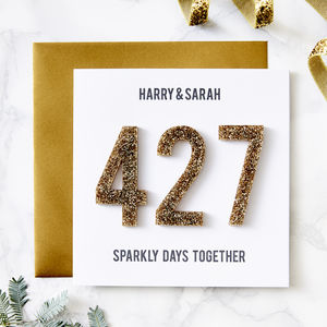 Personalised Days Together Card - seasonal cards