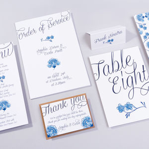 Table Plan, Numbers, Place Cards, Menus : Loren