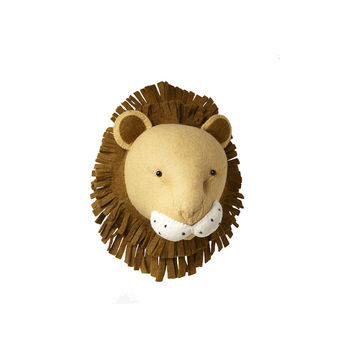 Woollen Lion Head Wall Mount