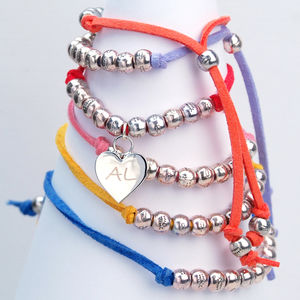 Personalised Silver Plated Heart Friendship Bracelet - children's accessories