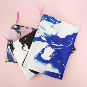 Marbled Zip Pouch - clutch bags