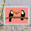 Two Toucans Bird Print