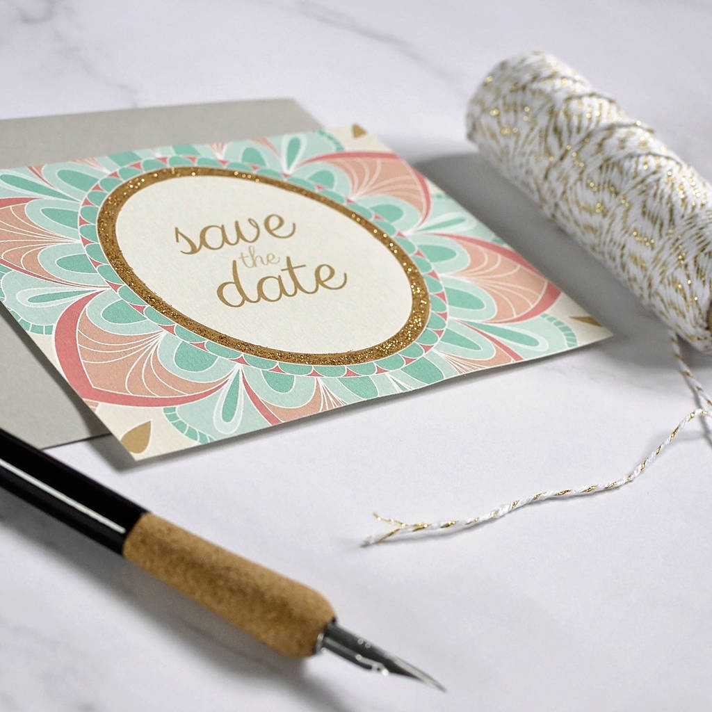 Personalised Indian Style Save The Date Card