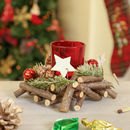 Country Christmas Square Tealight Holder