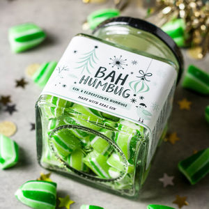 Gin And Elderflower Bah Humbug Alcoholic Sweets - chocolates & confectionery