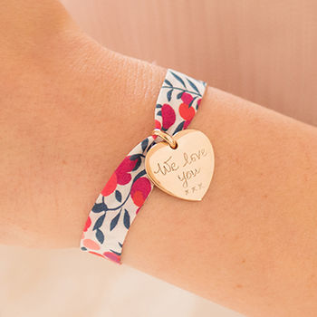 Personalised Liberty Charm Bracelet