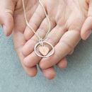 Rose Gold Heart Circle Necklace