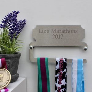 Personalised Mini Medal Display Hanger - hooks, pegs & clips