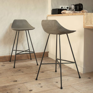 Hauteville Concrete Counter Chair - kitchen