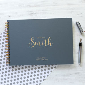 Personalised Script Guest Book, Memory Book Or Album