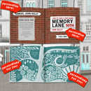 Personalised 50th Birthday Book 'Memory Lane'