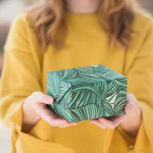 Tropical Palm Leaves Wrapping Paper