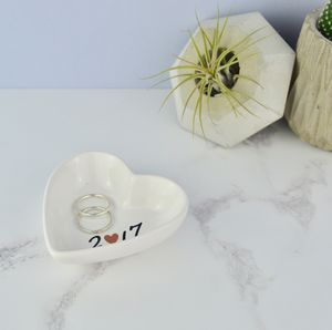 Wedding And Anniversary Ring Dish - jewellery storage & trinket boxes