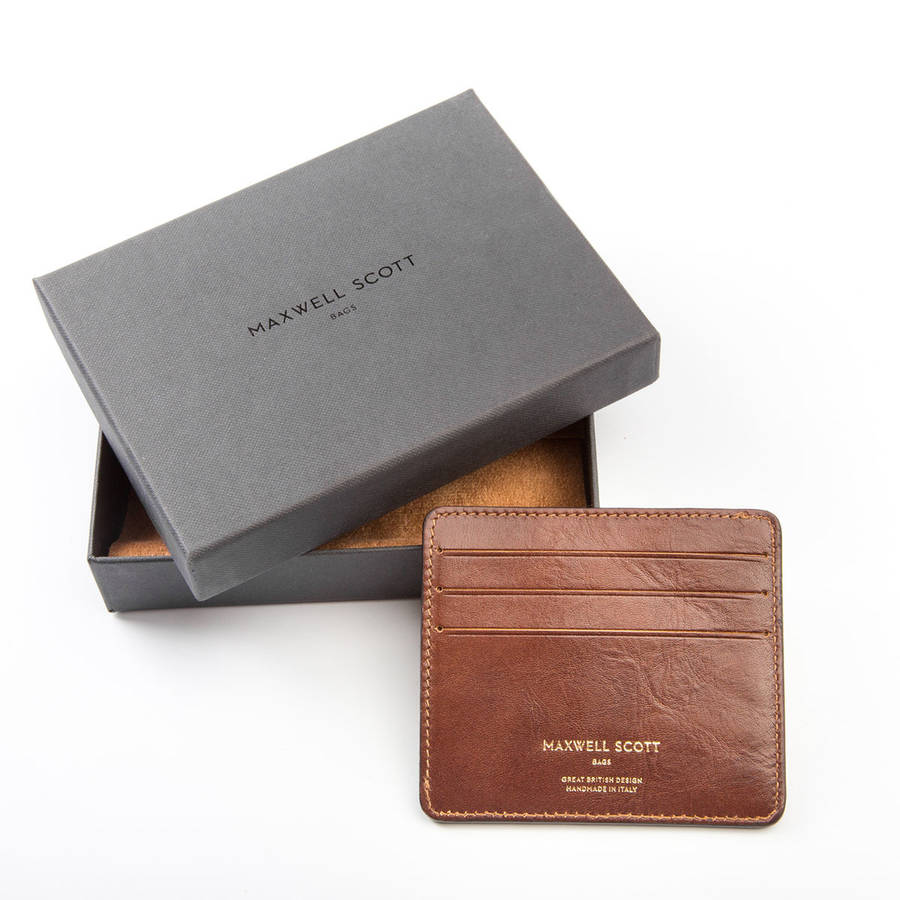 8a8f7a8a67 personalised italian leather card holder.  the marco  by maxwell ...