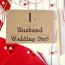 'To My Wonderful Husband' Tie Wedding Day Card