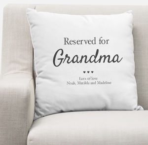 Reserved For Grandma Personalised Cushion Cover - cushions