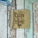 Gin And Tonic Personalised Engraved Coaster