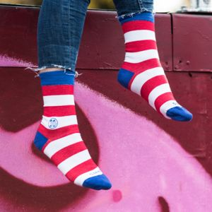 Homeless Classic Red Stripe Sock