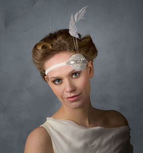 Flapper Style Headband - bridal hairpieces