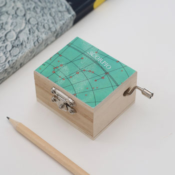 Personalised Constellation Happy Birthday Music Box