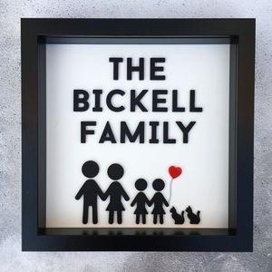 Personalised 3D Stick Family Portrait - gifts for families