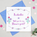 Personalised 'Will You Be My Flower Girl?' Card