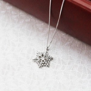 Sterling Silver Winter Snowflake Necklace - necklaces & pendants