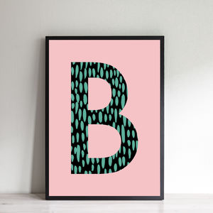 Personalised Abstract Pattern Initial Print - modern & abstract