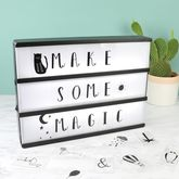 A4 Wooden LED Light Box With Letters - home