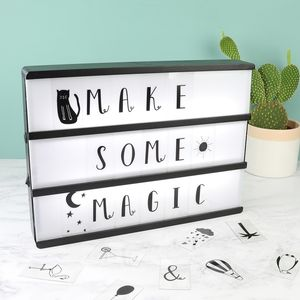 A4 Wooden LED Light Box With Letters - home sale